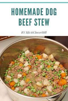 Homemade Dog Beef Stew Homemade Dog Treats, Healthy Dog Treats, Doggie Treats, Best Homemade Dog Food, Dog Snacks, Dog Treat Recipes, Dog Food Recipes, Make Dog Food, Pet Food