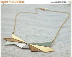 Sale 20% OFF Short Northern Lights Necklace , bold pendant, Scandinavian design