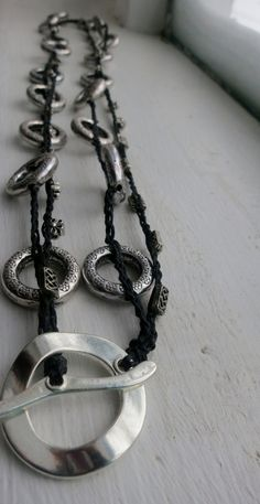 War and Peace Crochet Necklace by FleasKnees on Etsy, $20.00