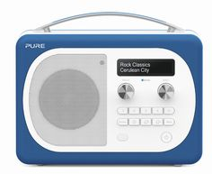 Evoke Mio with Bluetooth (Cerulean) - DAB and FM digital radio Radios, Digital Radio, Cerulean, Industrial Design, Pure Products, Deco, Classic, Colours, Deko