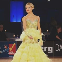Our beautiful DSI Elite Performer Cäroly Jänes looking stunning in her Lime Couture Ballroom Dress!