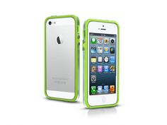 Bumper case in transparent PVC for iPhone 5, green color.   http://www.sbsmobile.com/iphone/protections_specific-cases/1969_bumpy-case-for-iphone-5_TEBUMPTRIP5G.html