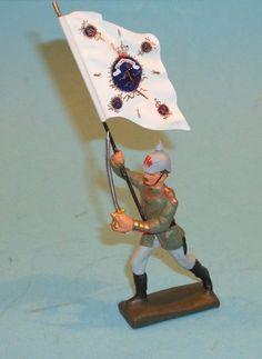 2631 – Lineol Preus. Offizier Sturmfahnenträger Sehr Gut | eBay