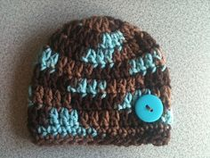 PreemieNewborn Unisex Crochet Beanie Brown & by BabyRaggz on Etsy,
