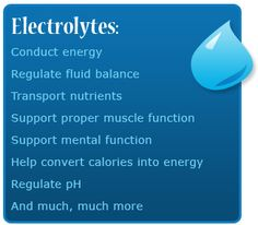 1 of the first topics learned in nursing school- the importance of electrolyte balance in the body. It's incredible to realize how many factors can interrupt this delicate balance- hydration (+ & -), drugs (both rx & OTC), surgery, illness....One of the key elements of nursing is being able to identify the signs of electrolyte balance in order to implement measures to correct them. The most serious risks? Heart issues & tetany, or muscle contractions-fatal if it involves respiratory muscles!