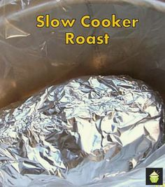 How to make Slow Cooker Roast. Use Beef, pork etc, leaves your meat full of flavour and of course super tender! Easy Instructions. #slowcooker #roast #crockpot