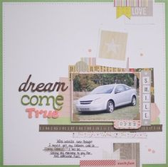 """Dream Come True"" by photochic, as seen in the Club CK Idea Galleries. #scrapbook #scrapbooking #creatingkeepsakes"