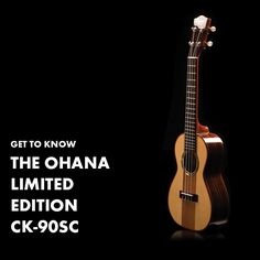 Now is your chance to add a beautiful concert uke to your collection, the Ohana Limited Edition CK-90SC. Solid spruce and Mahogany top  Solid Maple and Rosewood back and sides  Abalone rosette  with Aquila strings and a hard-shell case  (retail value of CK-90SC and case: $788)