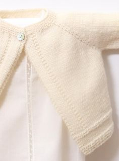 A beautiful knitted cardigan for your little one! Find this pattern and more baby knitting inspiration at LoveKnitting.Com.