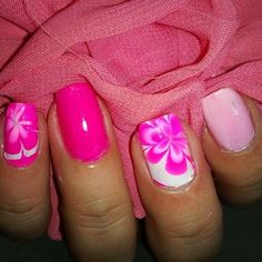 China Glaze Pink Voltage Nail Art