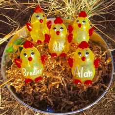 A personal favorite from my Etsy shop https://www.etsy.com/listing/270728741/personalized-easter-egg-easter-egg-chick