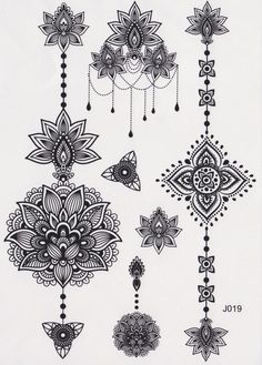 Temporary Tattoo, Mandala Tattoo, Lotus Tattoo, Feminine Tribal Aztec Black and White Maori Flower Vintage Traditional Kylie Jenner (Small Tattoos Cat) Maori Tattoos, Henna Tattoos, Back Tattoos, New Tattoos, Body Art Tattoos, Tattoos For Guys, Cool Tattoos, Type Tattoo, Gold Tattoo