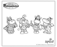 pajanimals coloring pages - Google Search