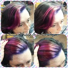 I've really been loving getting to play with all these fun colors lately! I'm so addicted! Lol. 😄😍 Thank you @kirstyglanville for coming in and letting me play with your hair and wax your brows! I had a blast with you yesterday. 😊😍😍😘😘💇💆💋💗💗 #pravanavivids #matrixbleach #olaplex #purple #magenta #fringe #hair #beautiful #hairdesign #hairstylist #esthetician #waxing #brows #eyebrows #lovemyjob #saloncapelli #makeanappointmentwithme #styleseat @ styleseat.com/savannahhydemoore…