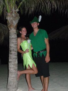 tinkerbell and peter pan couple costume - Google Search