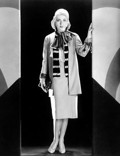 """Carole Lombard wearing an outfit by Travis Banton, publicity portrait for """"Safety in Numbers"""", 1930."""