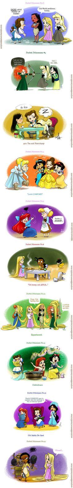 if disney princesses hung out