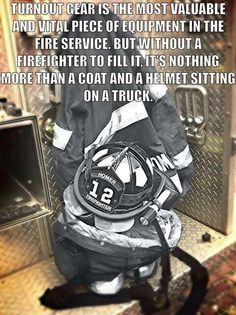 The most vital piece of equipment in the fire service Firefighter Family, Firefighter Paramedic, Firefighter Pictures, Female Firefighter, Firefighter Quotes, Firefighter Gifts, Volunteer Firefighter, Firefighter School, Wildland Firefighter