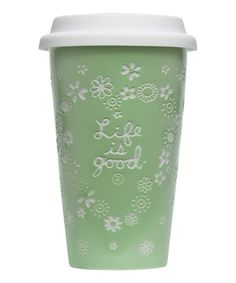 Take a look at this Spring Green Ceramic Tumbler by Life is good® Home on #zulily today!