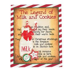 The legend of Milk and cookies ornaments