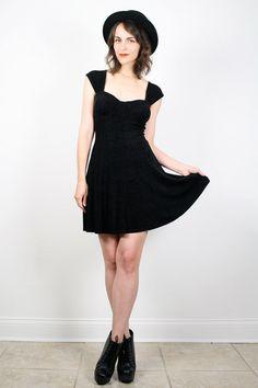 Vintage 90s Dress Grunge Dress Goth Dress by ShopTwitchVintage