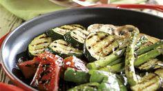 Verduras asadas con vinagreta