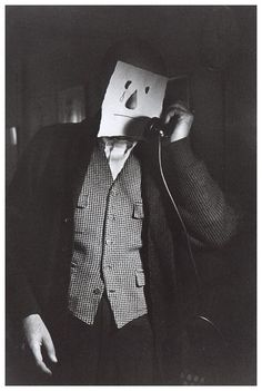 "Saul Steinberg: ""Masks"" Photo by Inge Morath"