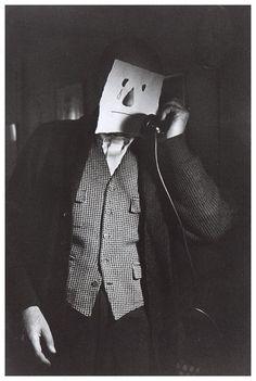 "Saul Steinberg: ""Masks"" Photo by Inge Morath"