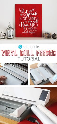 Make your projects go smoother using the Vinyl Roll Feeder!