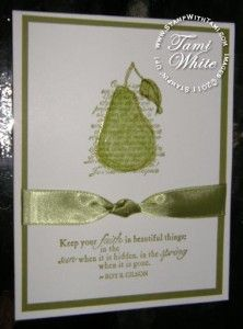 Faith in Nature Card | Stampin Up Demonstrator - Tami White - Stamp With Tami Stampin Up blog