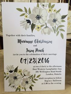 Brand new Invitations and reply cards have been designed for this one and only day and priced at ..... 55 cents! www.thepaperbride.ca South London, Best Western, One And Only, Reception, Marriage, Invitations, Bride, Paper, Day