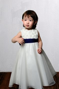 Elegant Appliques Two-double Straps Pleated With Bowknot A-line Flower Girl Dress In Britain