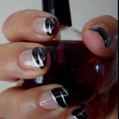 Black and silver tips *Shellac
