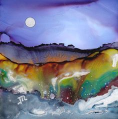 Alcohol Ink Dreamscapes | Dreamscaping With June Rollins®