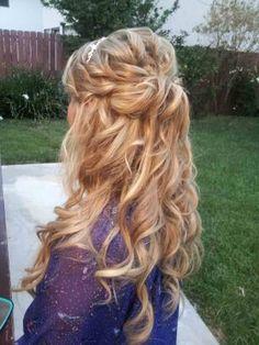 bridal trial of half up half down wedding hair
