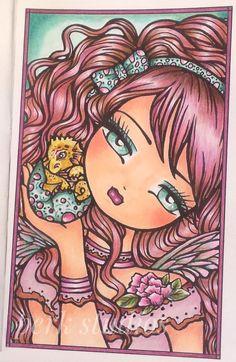 #Sadie's Dragon #Hannah Lynn #Enchanted Faces Coloring Book #perk studios