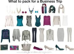 What to pack for a business trip -  www.mybrandnewimage.com