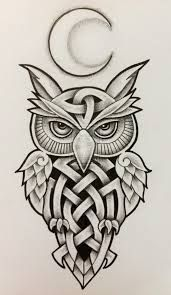 american traditional owl flash - Google Search