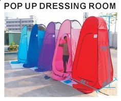 Portable Instant Pop-Up Changing and Dressing Room, or Restroom for camping, Lightweight and Collapsible. - Outdoor Ideas