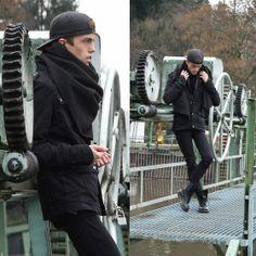 H&M Jacket, Zara Pants, Nike Cap