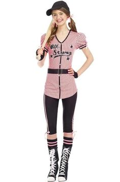 all stars sweetie baseball teen halloween costume - Baseball Halloween Costume For Girls