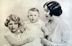 With their mother, Queen Elizabeth (a.k.a. the Duchess of York), circa 1931.  - GoodHousekeeping.com