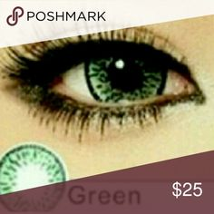 Green Color Non Perscription Contact Lenses Non Perscription Contacts with a beautiful natural green color that will cover over brown eyes too. If you have always wanted a new natural look, here it is! Feedback on this color has been all 5 stars! Accessories Glasses
