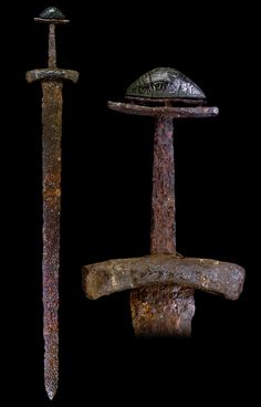"myArmoury.com A Fine Viking Sword with Bronze Pommel, 10th century Blade length: 66.3 cm (26.1"")"