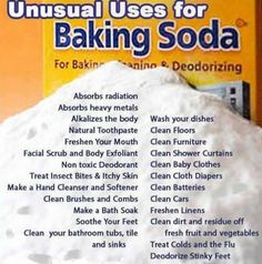 Baking Soda, or Sodium Bicarbonate, is a staple in homes for baking and cleaning purposes. Are you taking full advantage of all that baking soda has to offer? Baking Soda is a natural chemical compound. Household Cleaning Tips, Cleaning Recipes, House Cleaning Tips, Cleaning Hacks, Cleaning Agent, Household Products, Household Cleaners, Spring Cleaning, Cleaning Vinegar