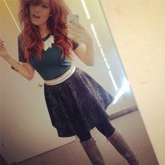 Debby Ryan red hair