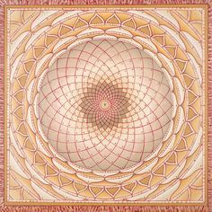 Gold Seduction Wheel Mandala