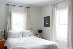 Bedroom colorss - white and beige