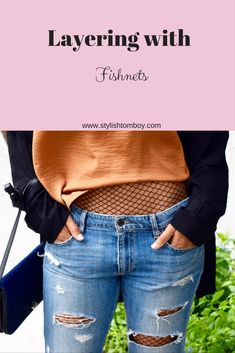 Fishnets are so fun and playful and very on trend right now. I love finding new ways to work them into my outfit. Click here for more!