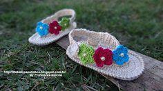 Sapatinhos Para Bebê - Life Baby: Passo a passo Sandália Primavera em Crochê